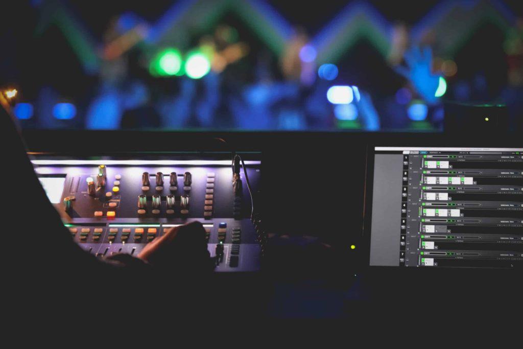 soundboard in back of church
