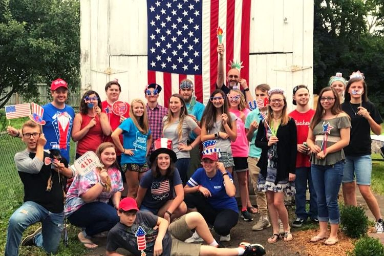 youth group in batavia, ohio 4th of July party